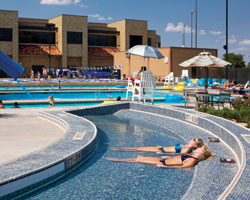 Underwater chaise lounge a draw at texas tech athletic for Pool design engineering
