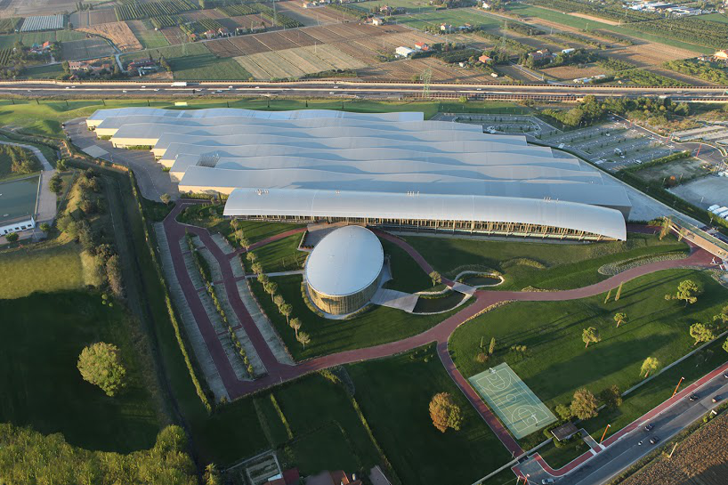 An overhead shot of Technogym's Wellness Village in Italy.