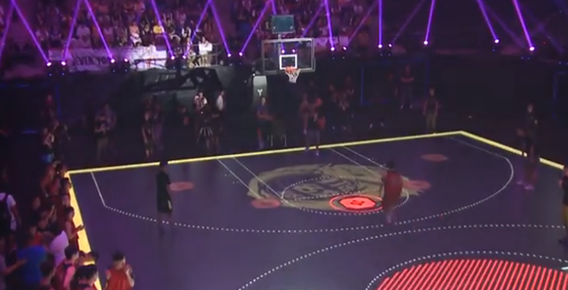 nikes led basketball court a sight to behold athletic