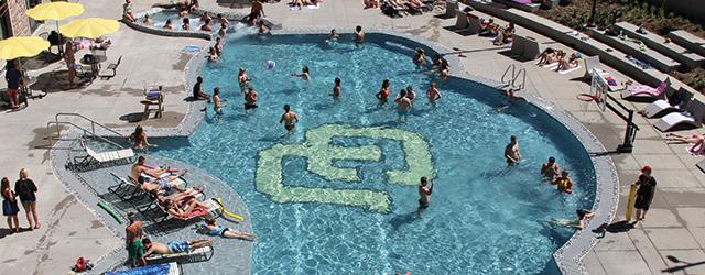 Buffalo shaped pool draws variety of colorado students - University of alberta swimming pool ...