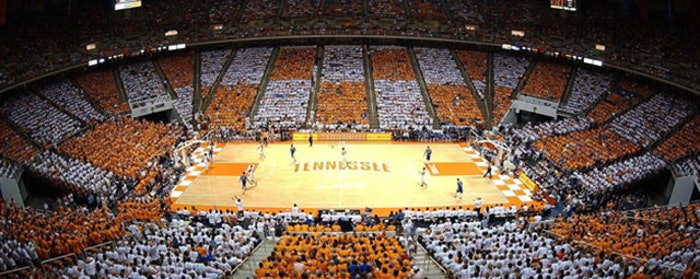 Tennessee will be looking for a new men's basketball coach. (Photo via utsports.com)