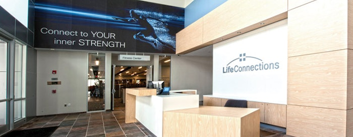 MAKING A CONNECTION Of the 1,600 members at Cisco's new fitness center, nearly half are new — an impressive statistic considering Cisco has had a fitness center onsite now for nearly two decades. (Photos Courtesy of Cisco)