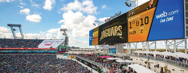 WATERu0027S FINE Sacrificing Seats Allowed The Jacksonville Jaguars To Create A  Truly Unique Fan Experience At EverBank Field. (PHOTO © CHRISTY RADECIC ...