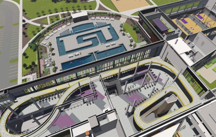 A rendering of the lazy river at LSU