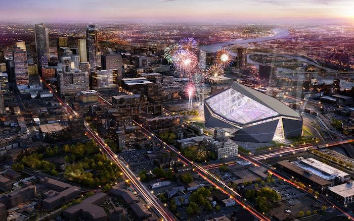 A rendering of U.S. Bank Stadium