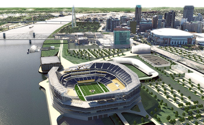 1 Stl Stadium Aerial Site View From North Credit Hok