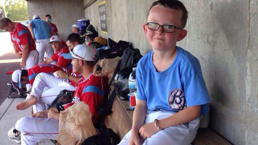 Kaiser Carlile was struck in the head during a Liberal Bee Jays game on August 2.