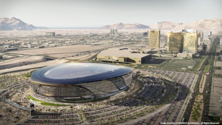 Renderings Of 1 9b Las Vegas Raiders Stadium Athletic Business