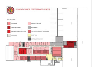 Designing training spaces to maximize limited practice for Athletic training facility design