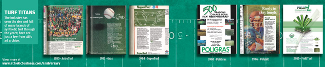 Athletic Business turf ads through the years -- Click to see more