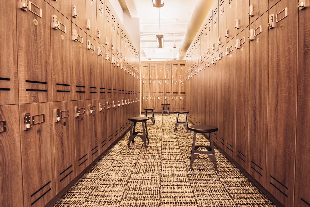 Locker room at Los Angeles Athletic Club