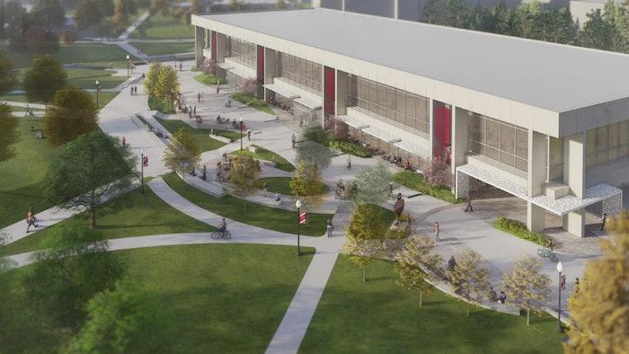 Quillen Family Spirit Plaza rendering courtesy of Virginia Tech
