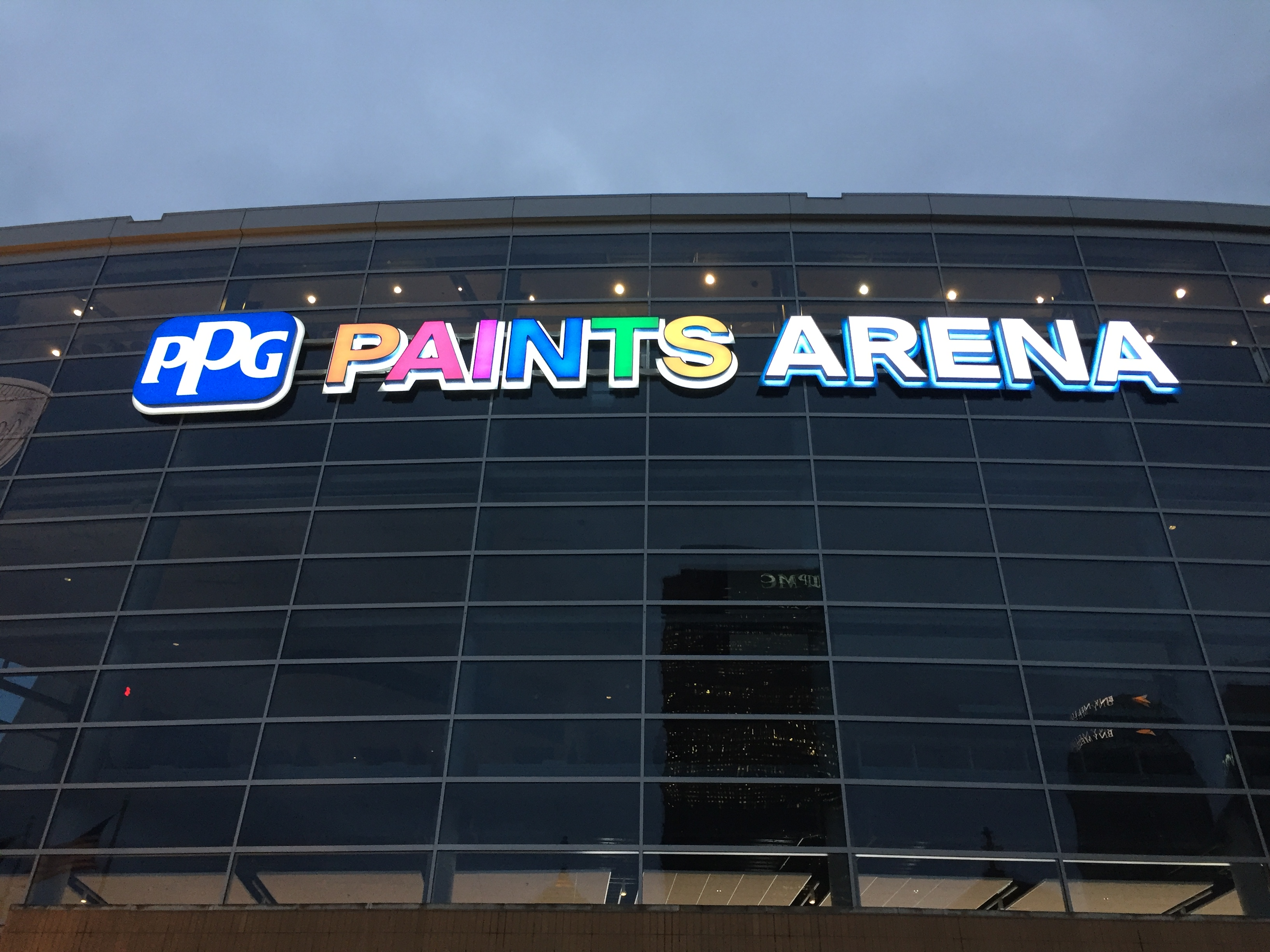 Ppg Paints Arena Gets New Exterior Signage Including Color