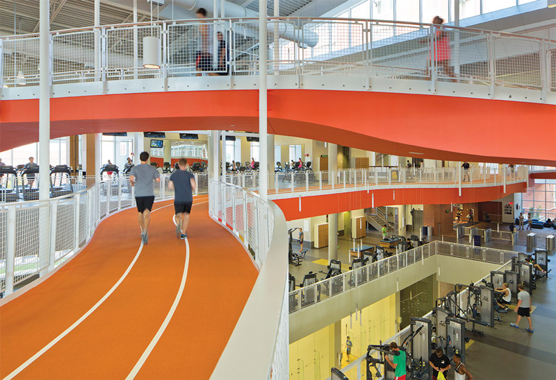 Making Tracks A Focal Point Of Recreation Center Design