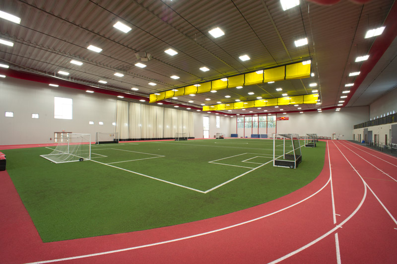 Designing the modern college football practice facility for Indoor facility design