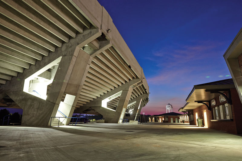 Precast Design Does More Than Support Stadium Seating Deck