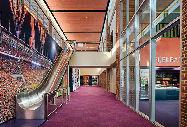 Clemson Football Complex Features Player Slide