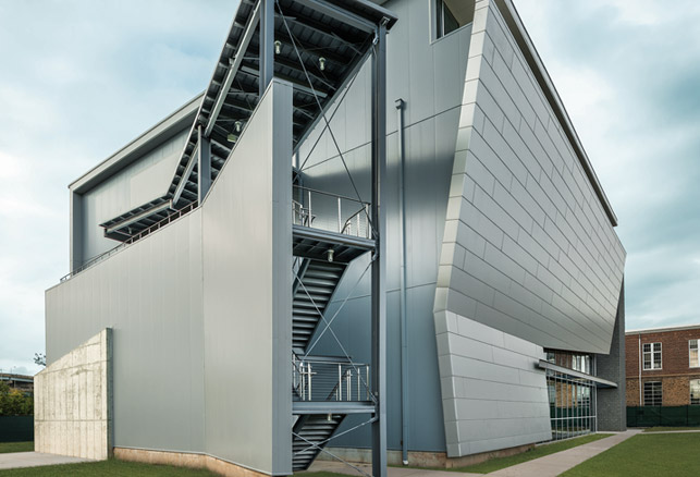 Exterior Stair Complements Novogratz Athletic Center Aesthetic