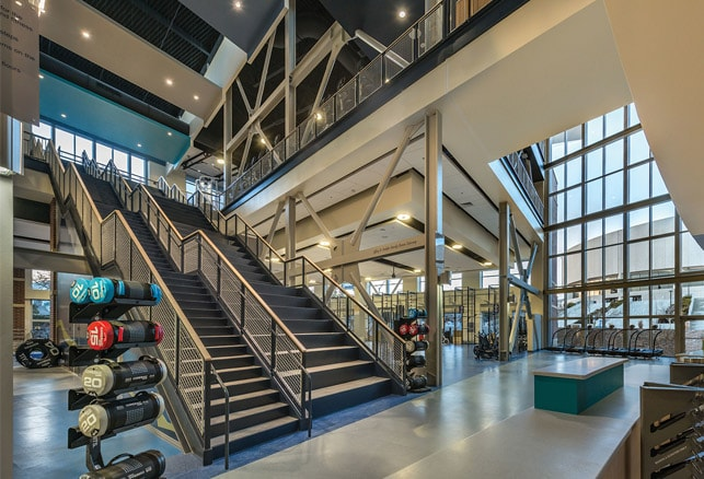 Nevada's Wiegand Fitness Center Features Stadium Stairs