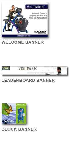 Sample images of Welcome, Leaderboard and Block Banners